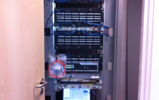 Structured Cabling Comms cabinet example